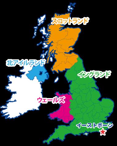 イーストボーンの地図