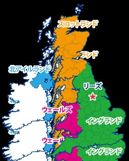 リーズの地図