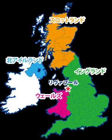 リヴァプールの地図