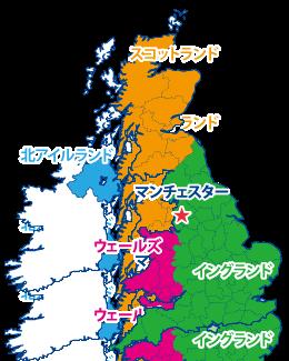 マンチェスターの地図