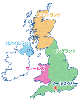 ソルズベリーの地図