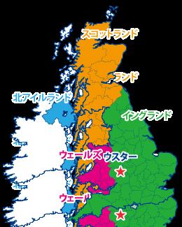 ウスターの地図