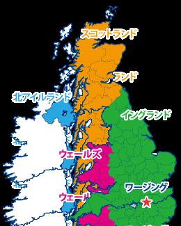 ワージングの地図